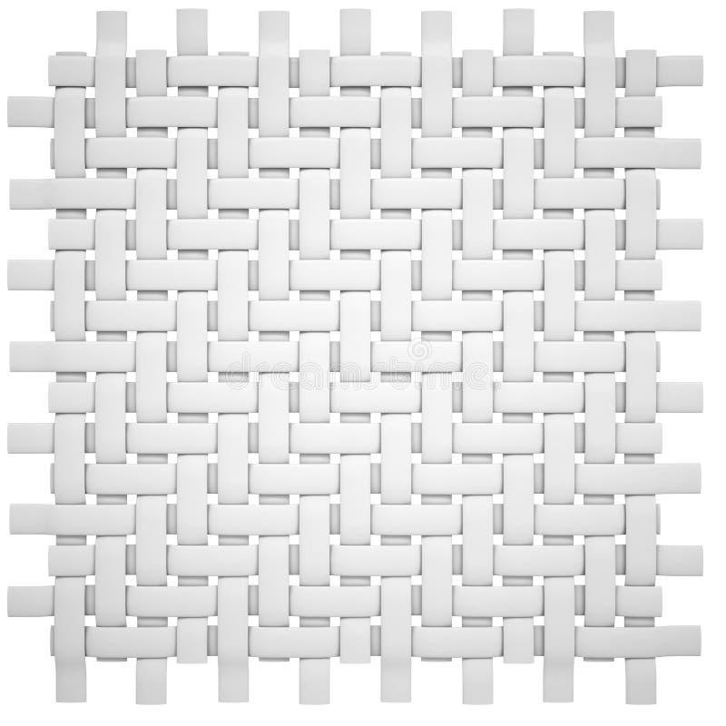 Biała łozinowa kanwa ilustracja wektor