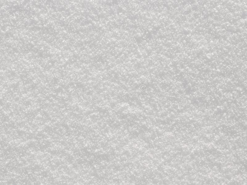 Biała śnieżna tło tekstura fotografia stock