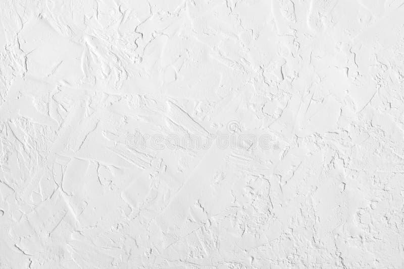 Biała abstrakcjonistyczna szorstka textured ściana tła kędzioru eleganckich elementów deseniowy rocznik obraz royalty free