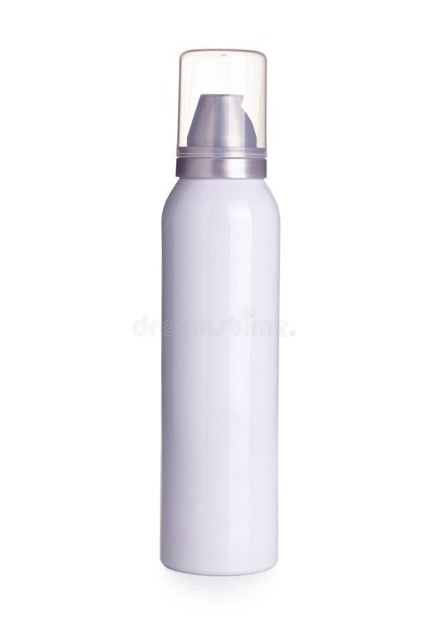 Biała aerosol puszka obraz royalty free