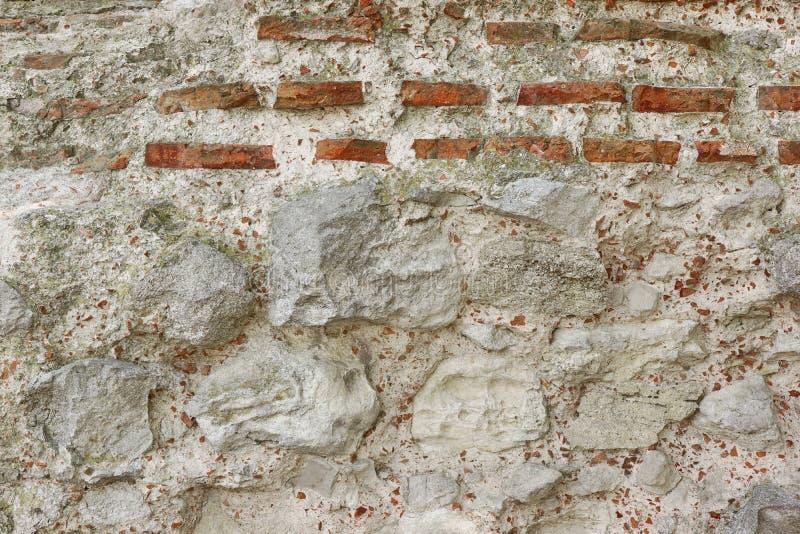 Biała Antyczna wapień ściany tła tekstura obraz royalty free