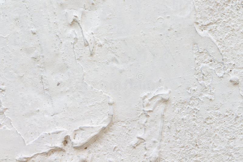 Biała betonowej ściany tekstura fotografia stock