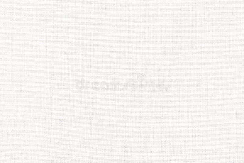 Biała bieliźniana kanwa Tło wizerunek, tekstura obraz stock