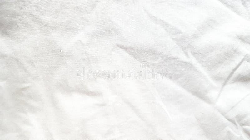 Biała bieliźniana tkanina z zmarszczeniem zdjęcia royalty free