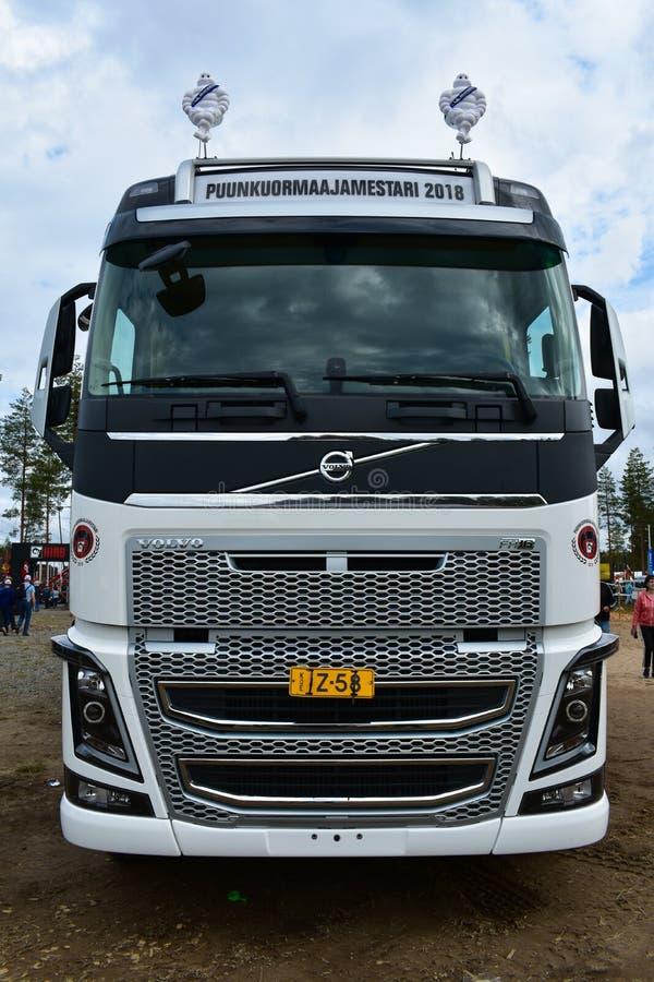 Biała, brandnew Volvo ciężarówka, fotografia stock