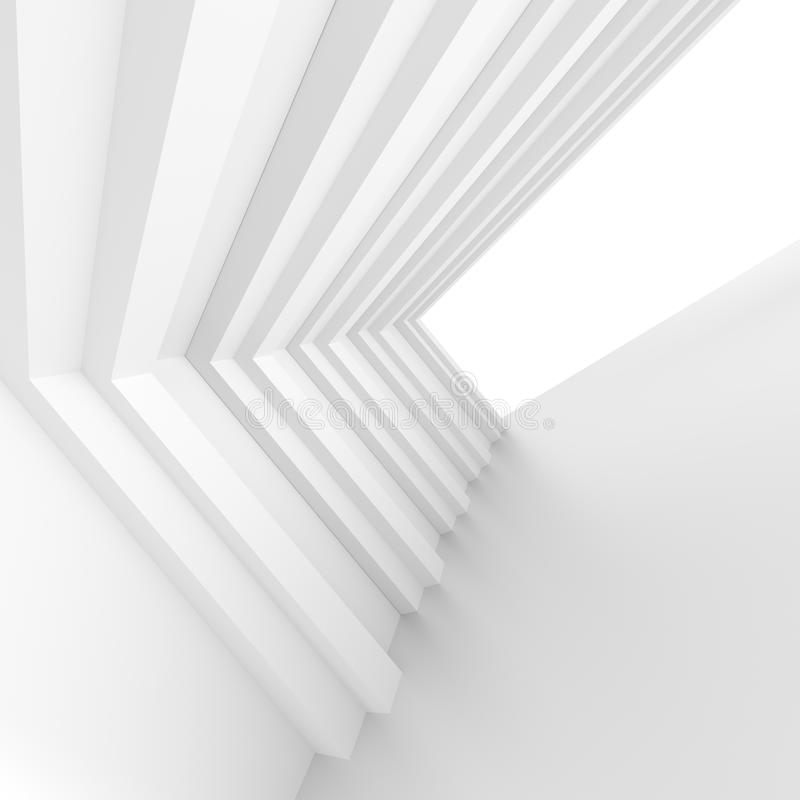 Biała budynek budowa Abstrakcjonistyczni Futurystyczni architektura półdupki ilustracja wektor