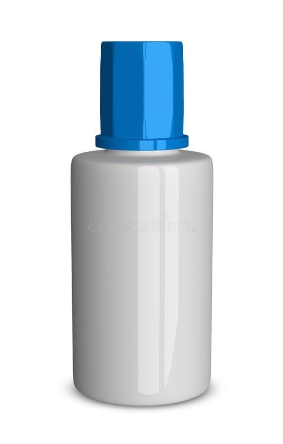 Biała butelka ilustracja wektor
