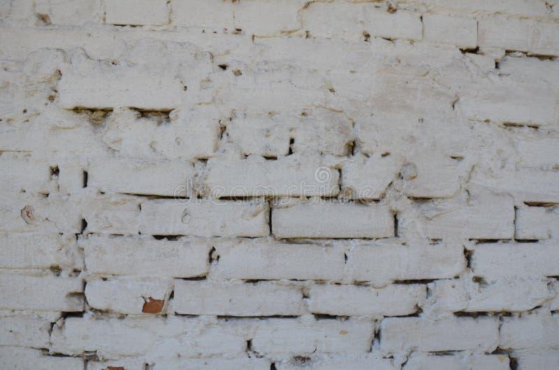 Biała ceglana tekstura zdjęcia stock