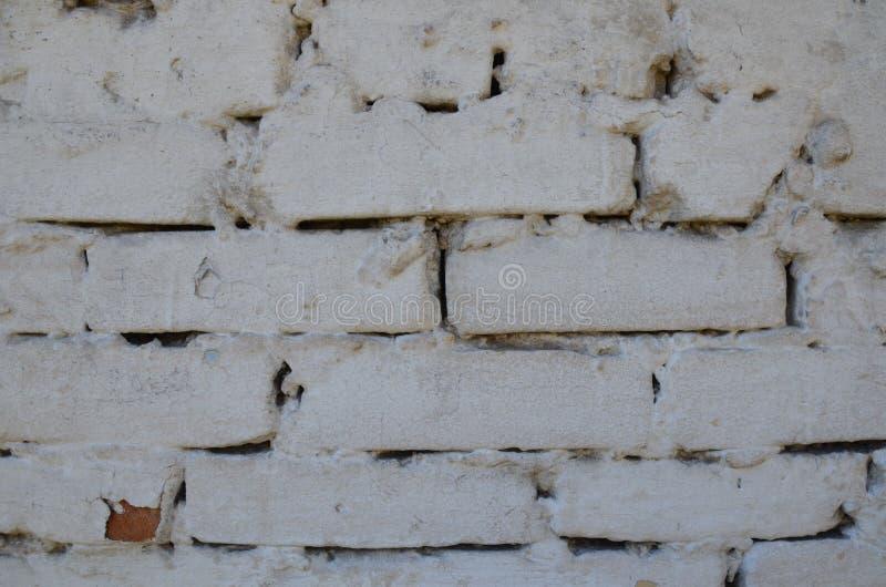 Biała ceglana tekstura zbliżająca zdjęcie stock