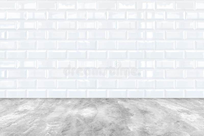 Biała Ceramiczna cement podłoga i zdjęcia royalty free