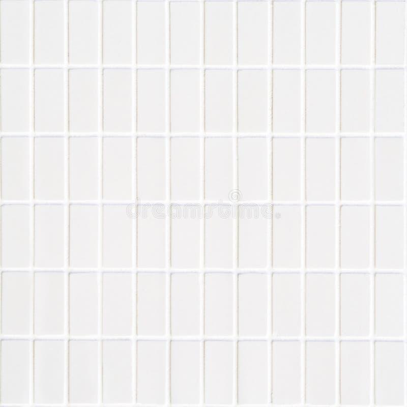 Biała ceramiczna płytka z bardzo małymi prostokątami w kwadrat formie obrazy royalty free