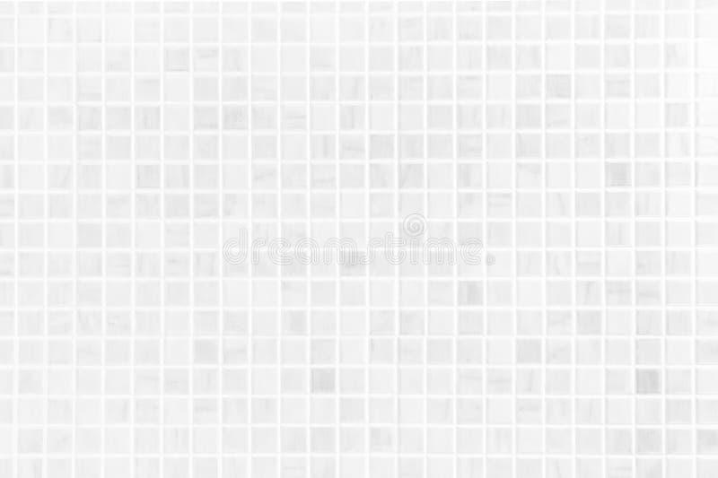 Biała ceramicznej płytki ściana, domu projekta łazienki ściany tło obraz royalty free