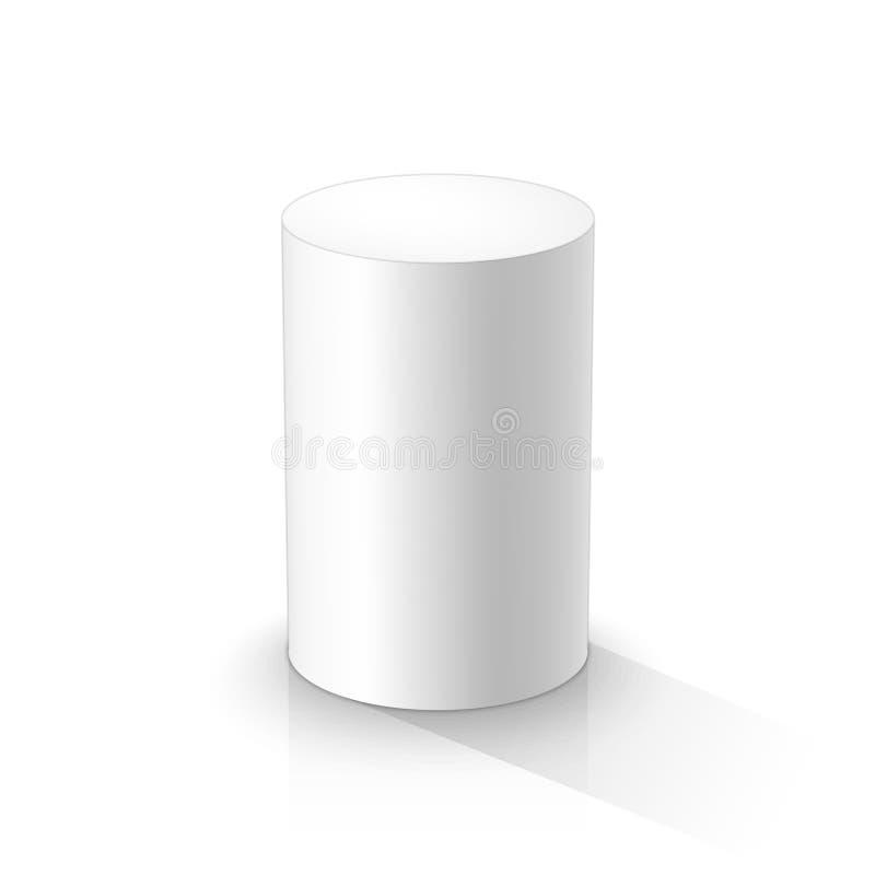 Biała 3d butla ilustracji