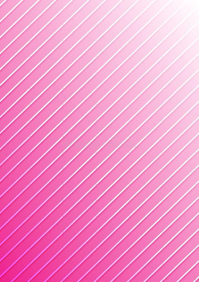 Biała Diagonalna lampas tekstura w Gradated menchii tle ilustracji