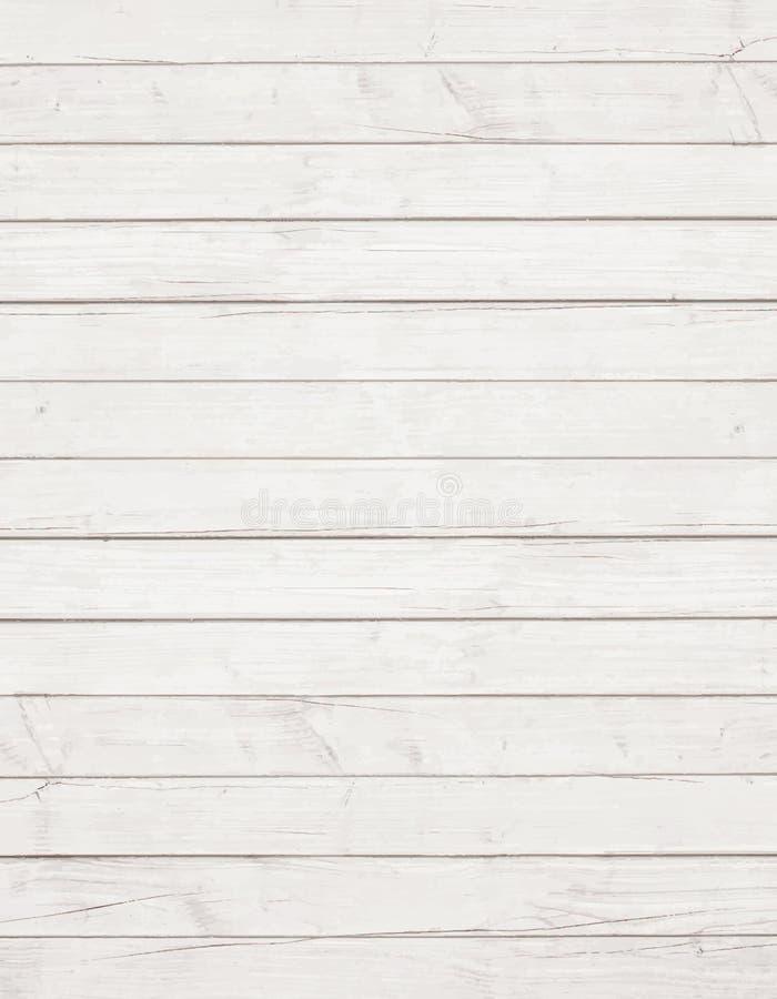 Biała drewniana ściana, stół, podłoga powierzchnia Lekka wektorowa drewniana tekstura ilustracja wektor
