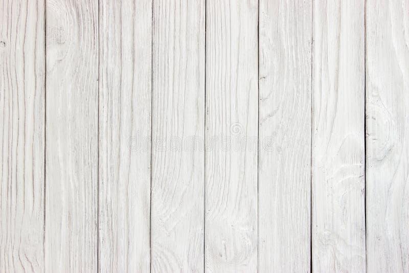 Biała drewniana deska jako tekstura i tło obraz stock