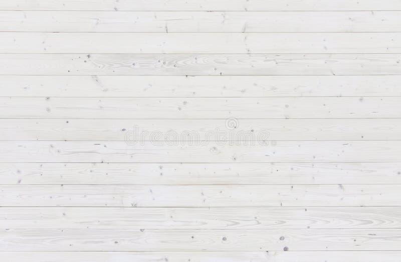 Biała drewniana deski tła tekstura obrazy royalty free