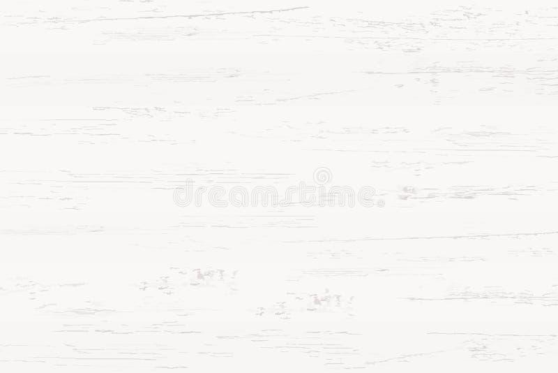 Biała drewno tekstura dla tła i wzór wektor royalty ilustracja