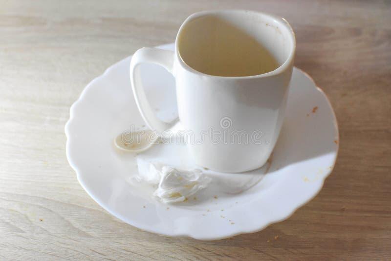Biała filiżanka, ranku napój obrazy royalty free