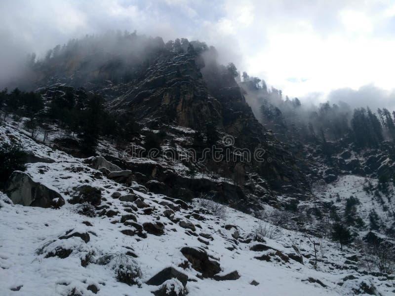 Biała góra fotografia stock