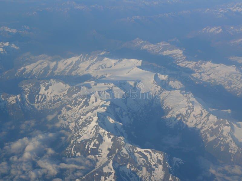 Biała góra w Alps fotografia royalty free