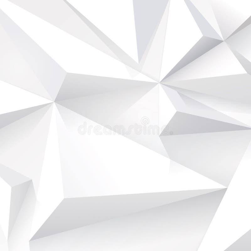 Biała geometryczna tekstura. royalty ilustracja