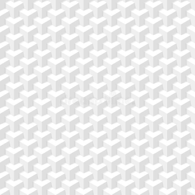 Biała Geometryczna tekstura royalty ilustracja