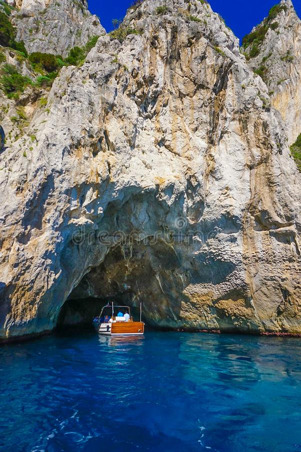 Biała grota wyspa Capri, Włochy obraz royalty free