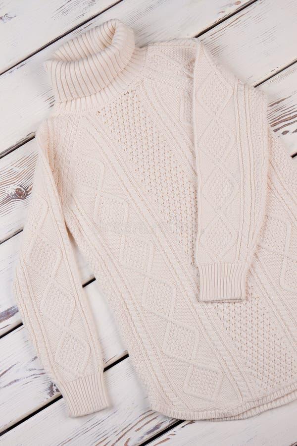 Biała handmade tunika obraz royalty free