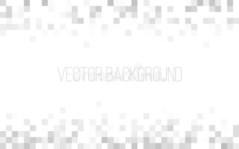 Biała i szara geometryczna tekstura abstrakcyjny tło Kwadratowy piksel mozaiki tło Strona internetowa lub reklamowy tło ilustracja wektor