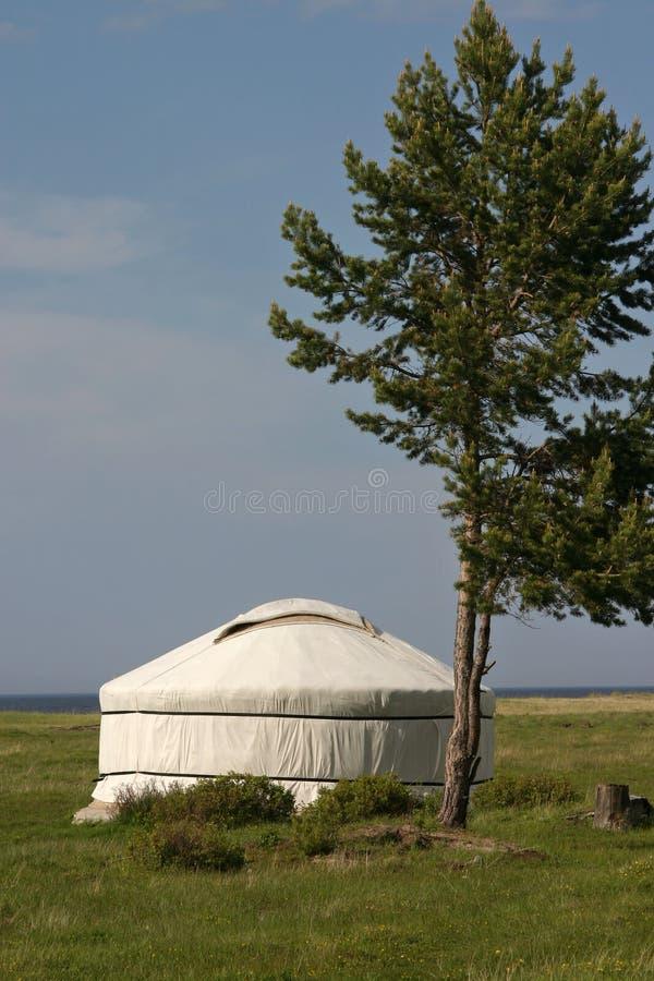 biała jurta obraz stock