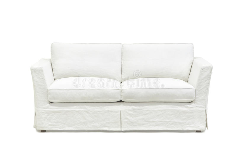 Biała kanapa obrazy royalty free