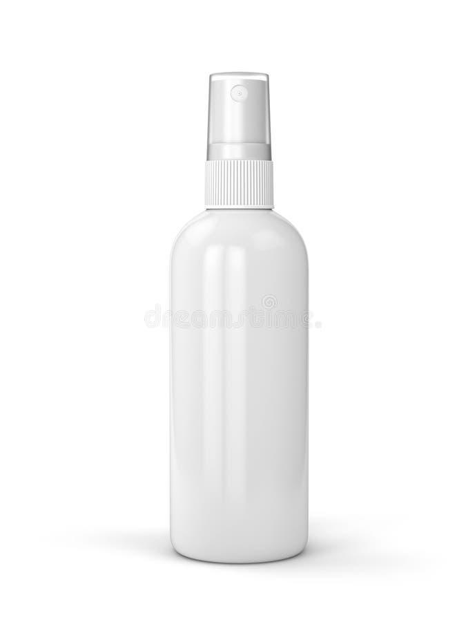Biała kiści butelka zdjęcie stock