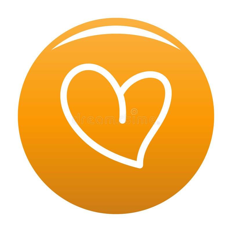 Biała kierowa ikony pomarańcze ilustracja wektor