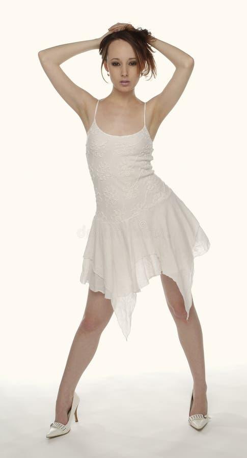 biała kobieta smokingowa fotografia stock