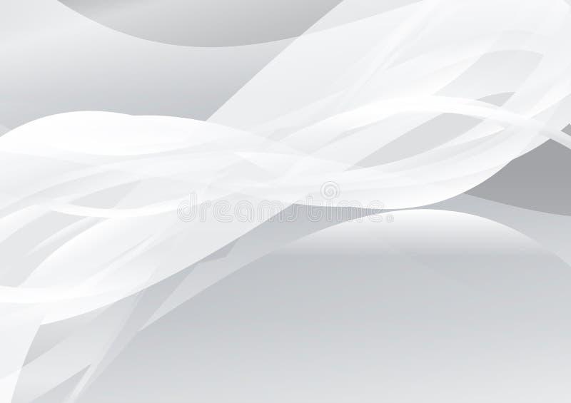 Biała koloru abstrakta fala tła wektoru ilustracja royalty ilustracja