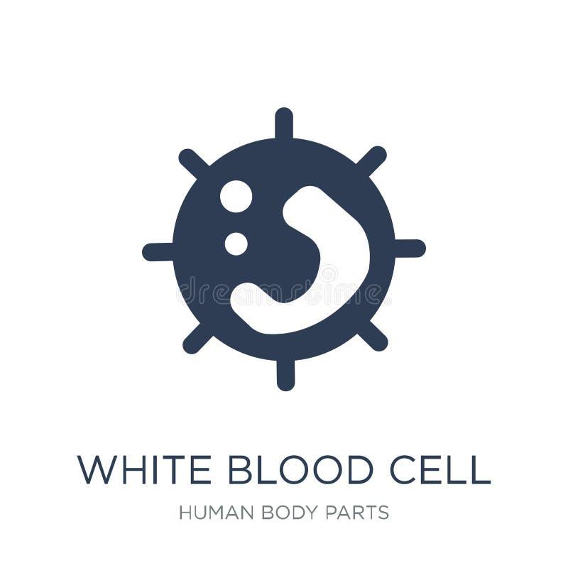 Biała komórki krwi ikona Modna płaska wektorowa Biała komórki krwi ikona royalty ilustracja