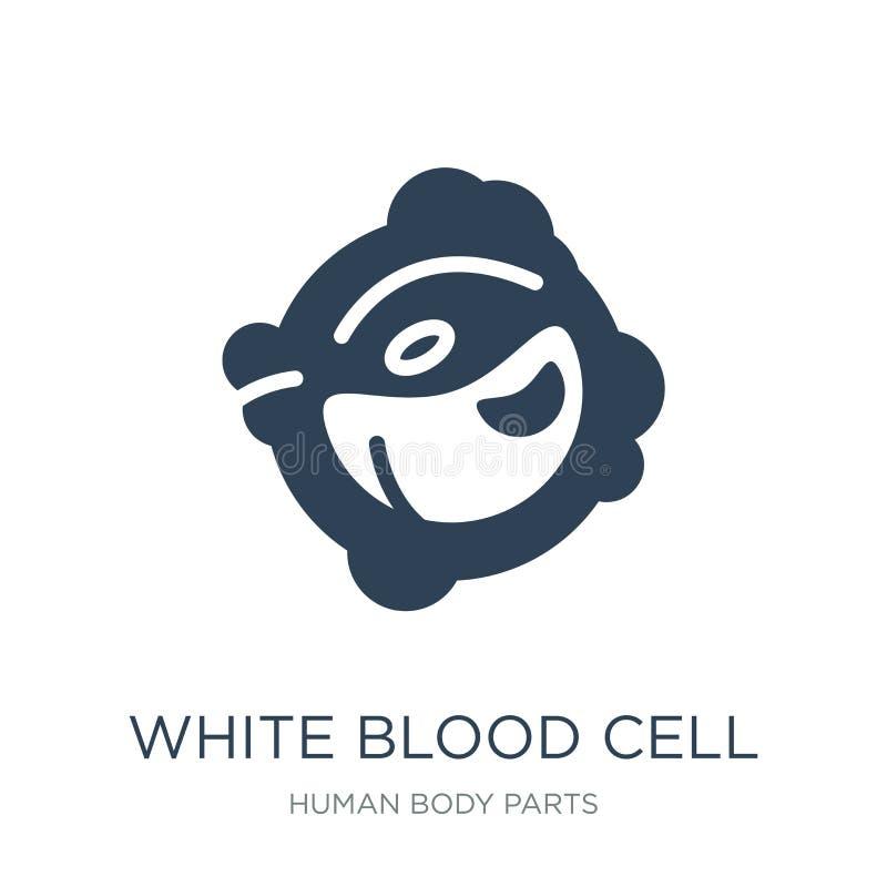 biała komórki krwi ikona w modnym projekta stylu Biała komórki krwi ikona odizolowywająca na białym tle biała komórka krwi wektor ilustracja wektor