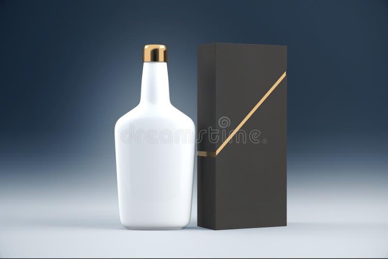 Biała koniak butelka royalty ilustracja