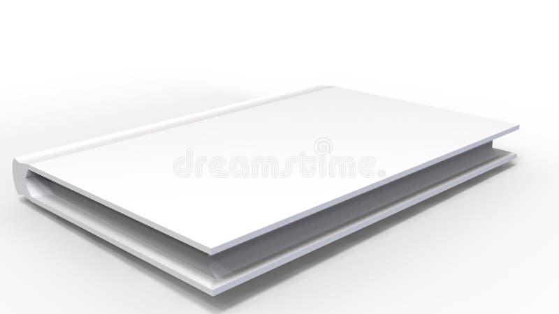 Biała książka 3D ilustracji