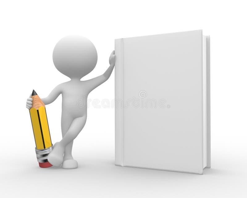 Biała książka i ołówek royalty ilustracja
