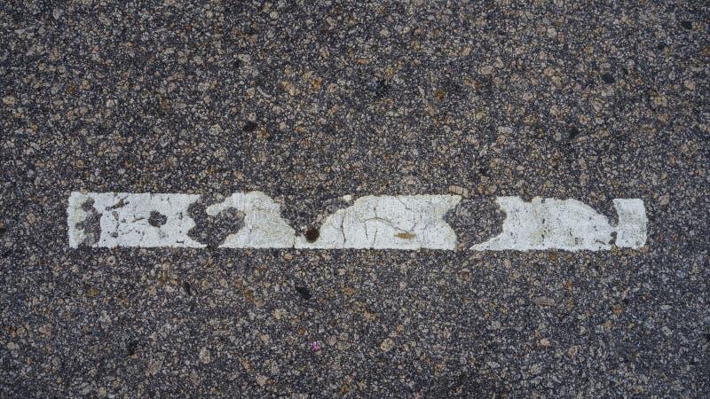 Biała linia na podłodze zdjęcia royalty free