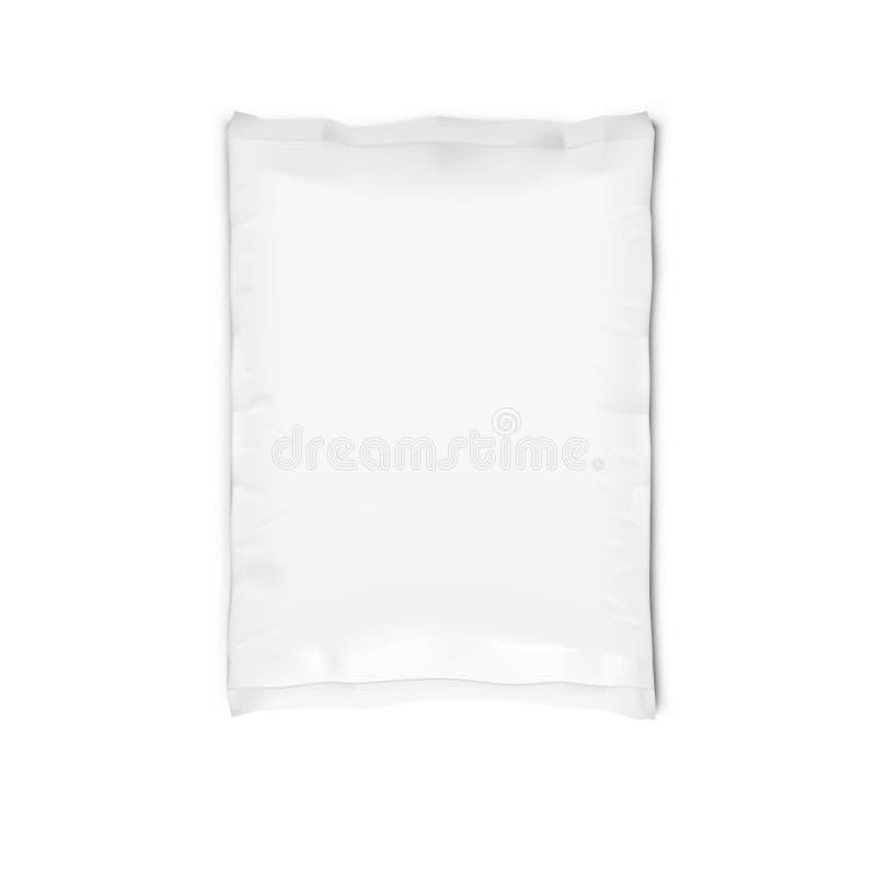 Biała Llaminated Jasna Pełna Papierowa torba Odizolowywająca zdjęcia royalty free