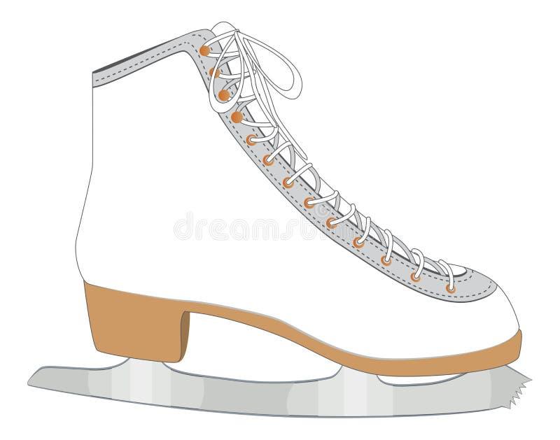 Biała lodowa łyżwa royalty ilustracja