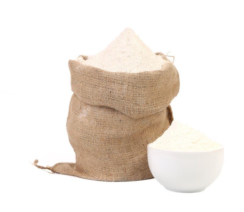Biała mąka. fotografia stock