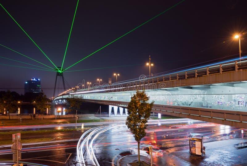 Biała noc - dzisiejsza ustawa festiwal w Bratislava, Sistani, zdjęcie stock