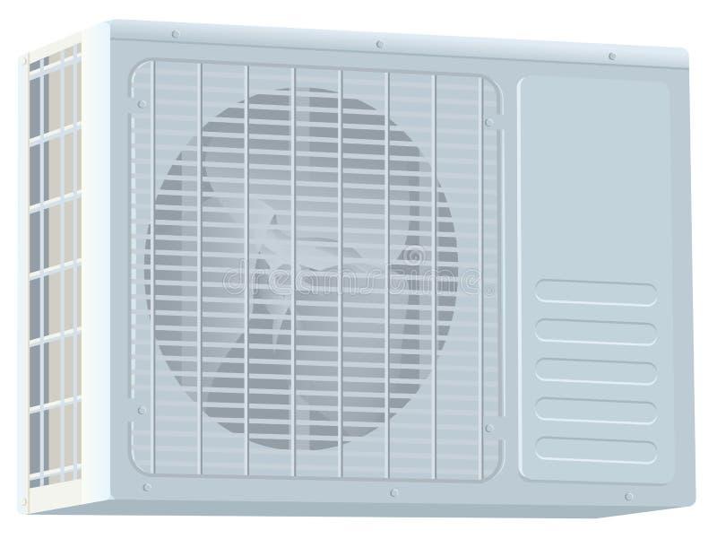 Biała nowożytna external powietrza conditioner kompresoru jednostka royalty ilustracja