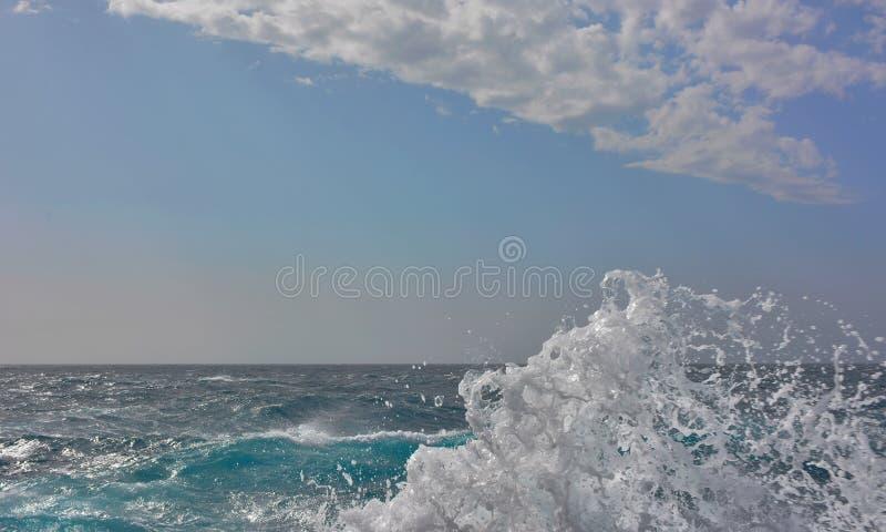 Biała ocean fala obrazy royalty free