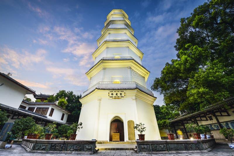 Biała pagoda Fuzhou, Chiny zdjęcie stock