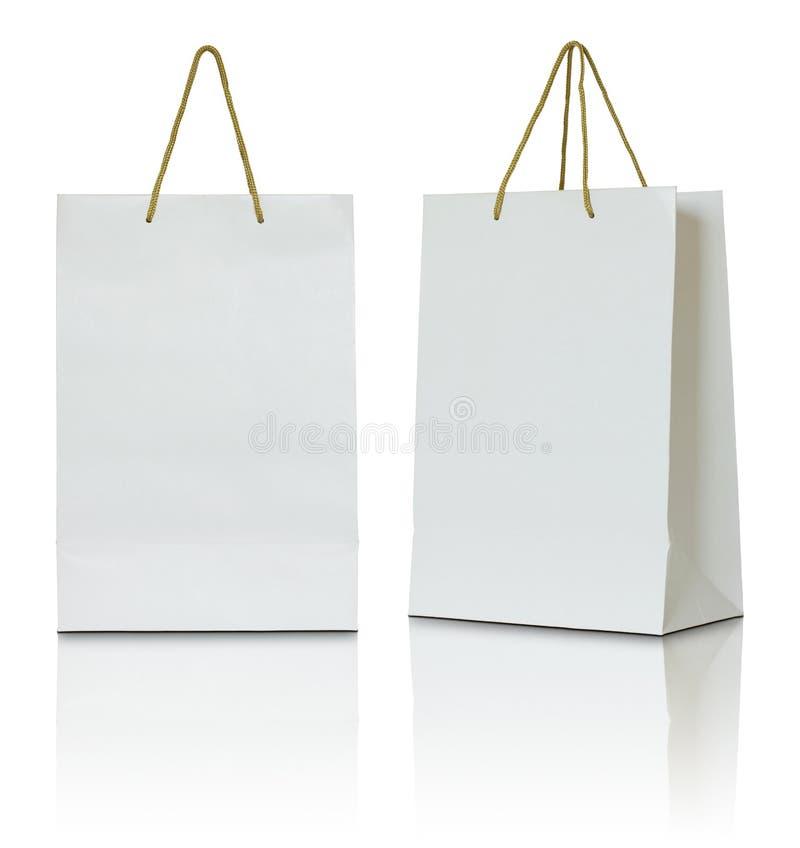 Biała papierowa torba zdjęcie royalty free